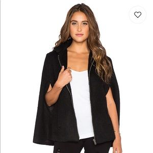 BB Dakota Zoey Black Cape Jacket